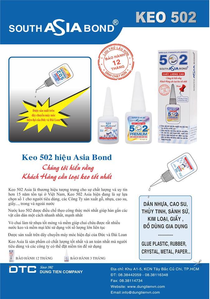 Keo 502 Asiabond chai dẹt